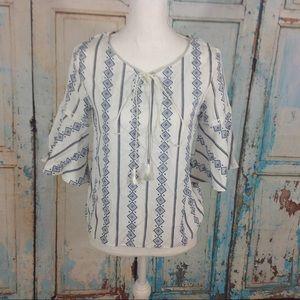 Tops - Boho blouse 3/4 bell sleeve